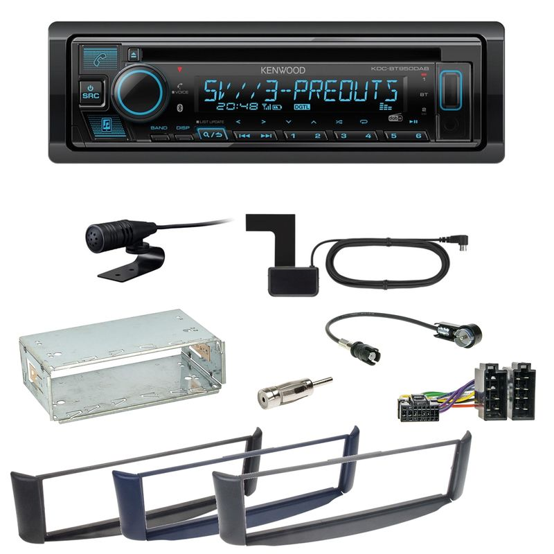 Kenwood KDC-BT950DAB Bluetooth Digitalradio CD Einbauset Smart ForTwo 450