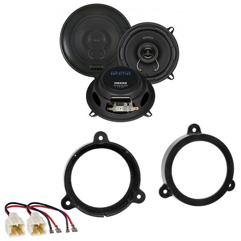 CRUNCH DSX52 2-Wege Lautsprecher Einbauset für Renault Megane 3 vorne hinten