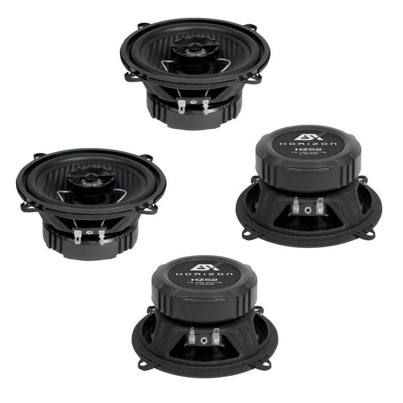 ESX HORIZON HZ-52 2-Wege Lautsprecher Einbauset für BMW E32 E38 vorne und hinten