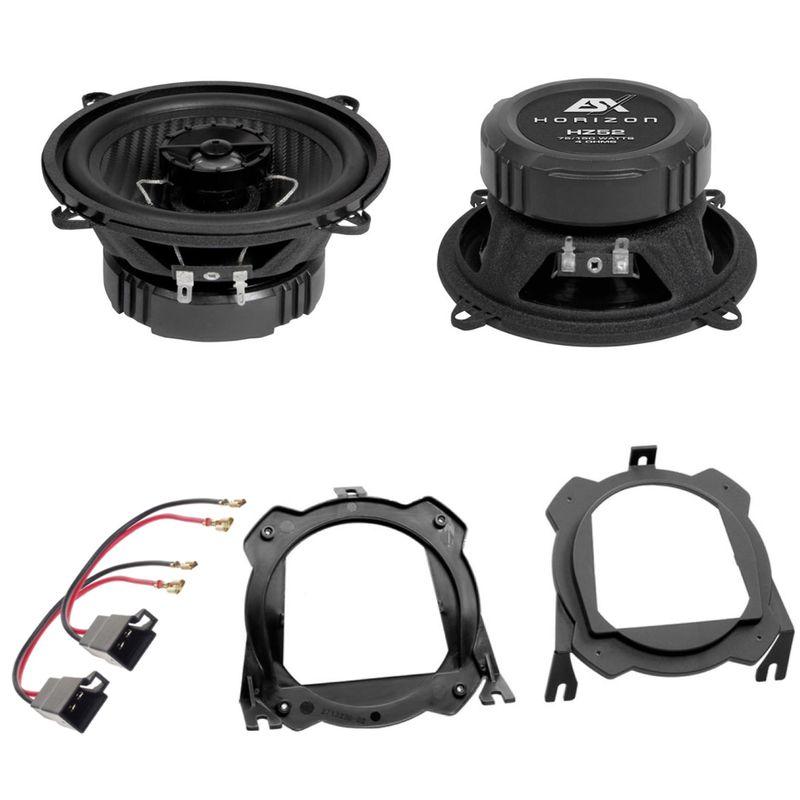ESX HORIZON HZ52 Lautsprecher Einbauset für Corsa C B Tigra seitliche Heckablage