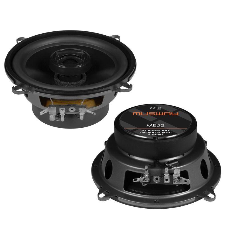MUSWAY ME-52  Koaxial Lautsprecher Einbauset für BMW E32 E38 vorne oder hinten