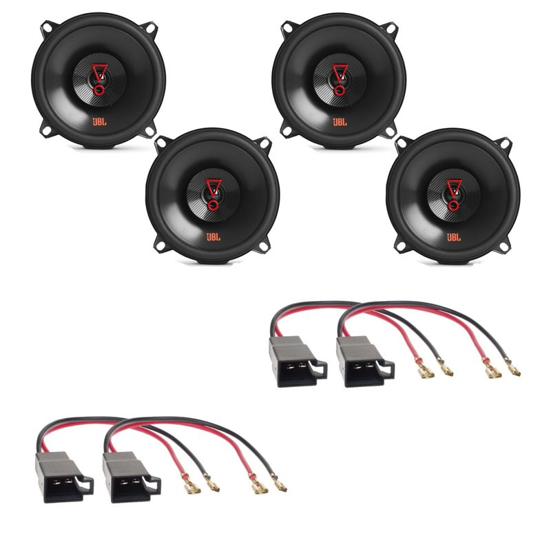 JBL Stage3 527 Lautsprecher Einbauset für Logan 2008 - 2012 vorne und hinten