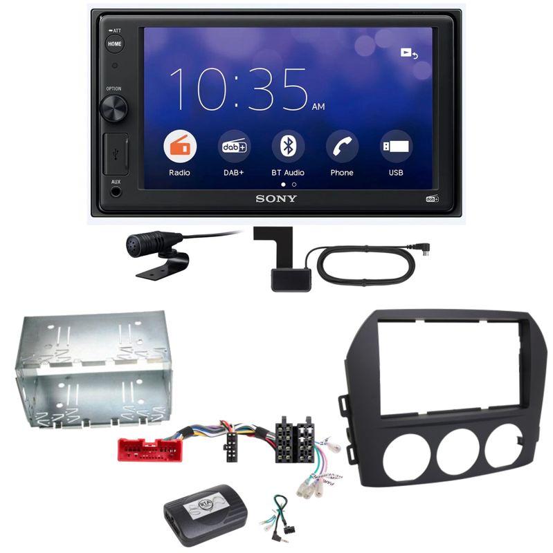 Sony XAV-1550D Moniceiver Weblink Digitalradio Einbauset für Mazda MX-5 NC FL