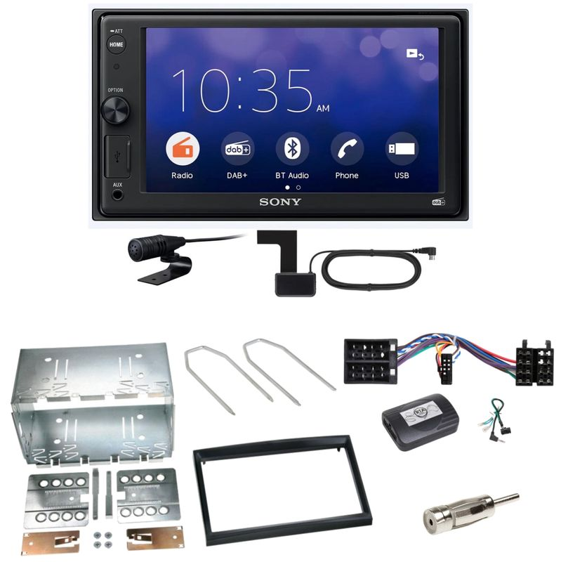 Sony XAV-1550D Moniceiver Weblink DAB+ Einbauset für Peugeot 307 Citroen C2 C3