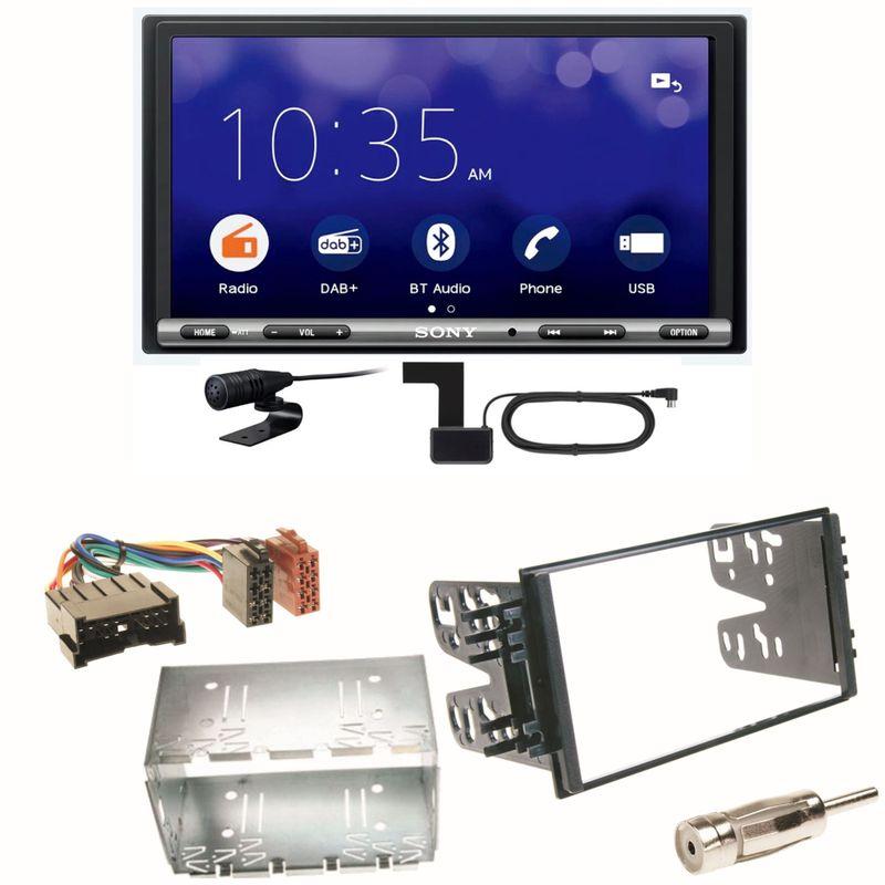 Sony XAV-3550D Moniceiver Weblink Einbauset für Kia Sorento JC Rio DC Carnival