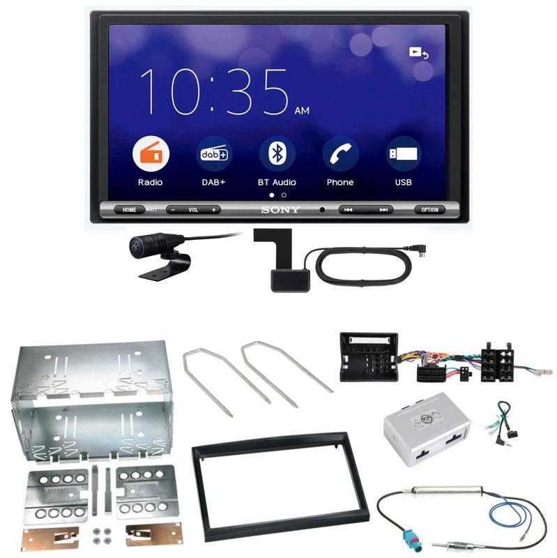 Sony XAV-3550D Moniceiver Weblink DAB Einbauset für Citroen C2 C3 Berlingo Jumpy