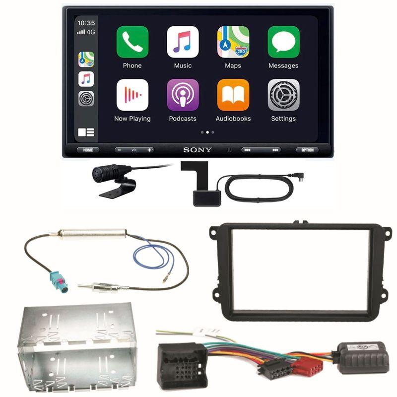 Sony XAV-AX5550D Moniceiver CarPlay Einbauset für Skoda Fabia Roomster Praktik