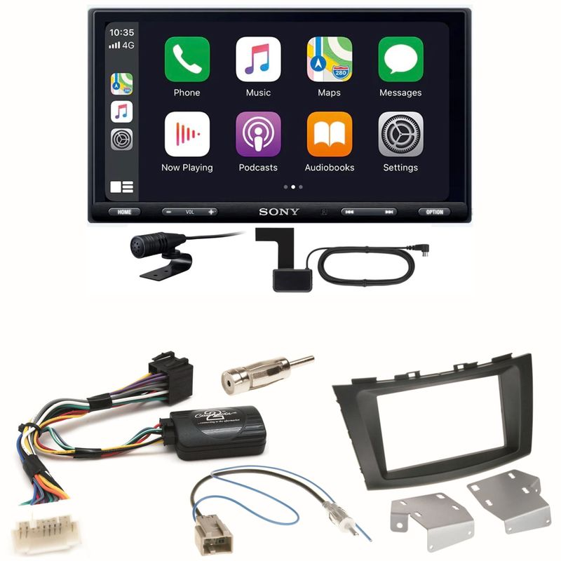 Sony XAV-AX5550D Moniceiver CarPlay DAB+ Einbauset für Suzuki Swift Sport FZ NZ