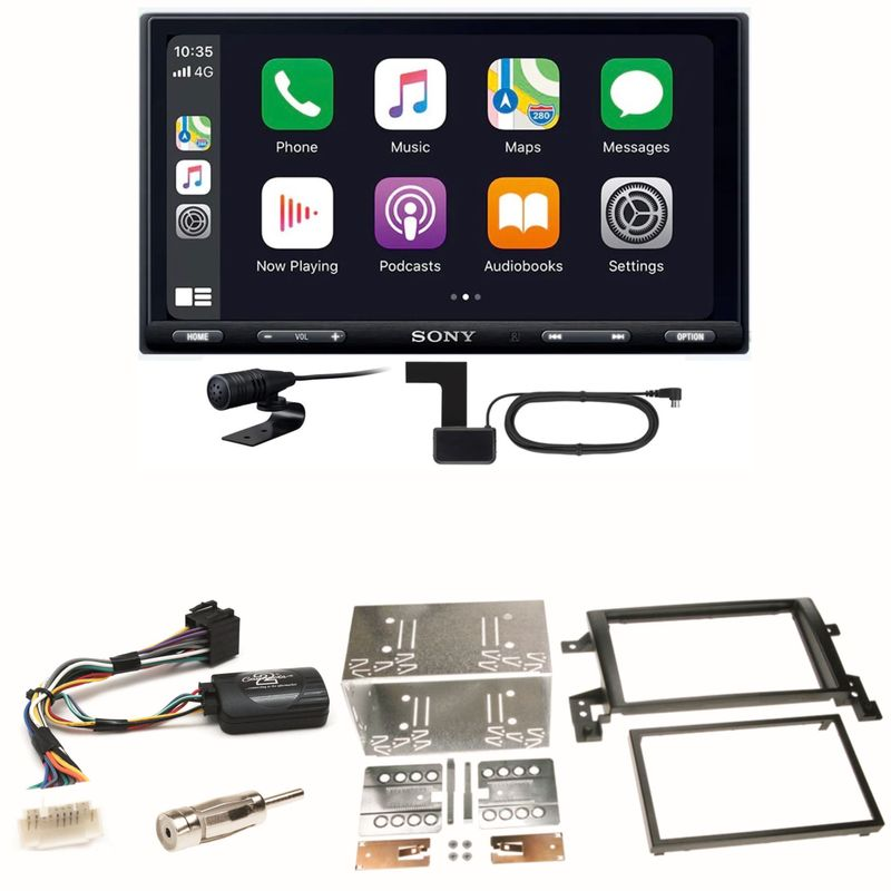 Sony XAV-AX5550D Moniceiver CarPlay DAB+ Einbauset für Suzuki Grand Vitara JT