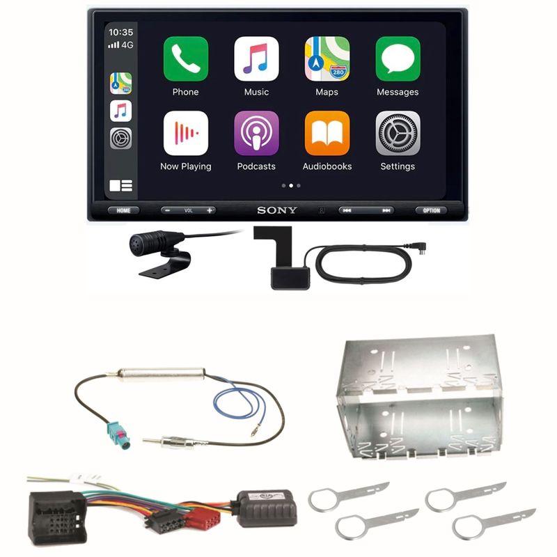 Sony XAV-AX5550D Moniceiver CarPlay Digitalradio USB Einbauset für Fox Polo 9N3