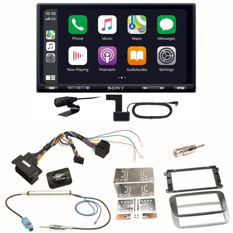 Sony XAV-AX5550D Moniceiver CarPlay Einbauset für Ford Focus Mondeo S-Max Galaxy