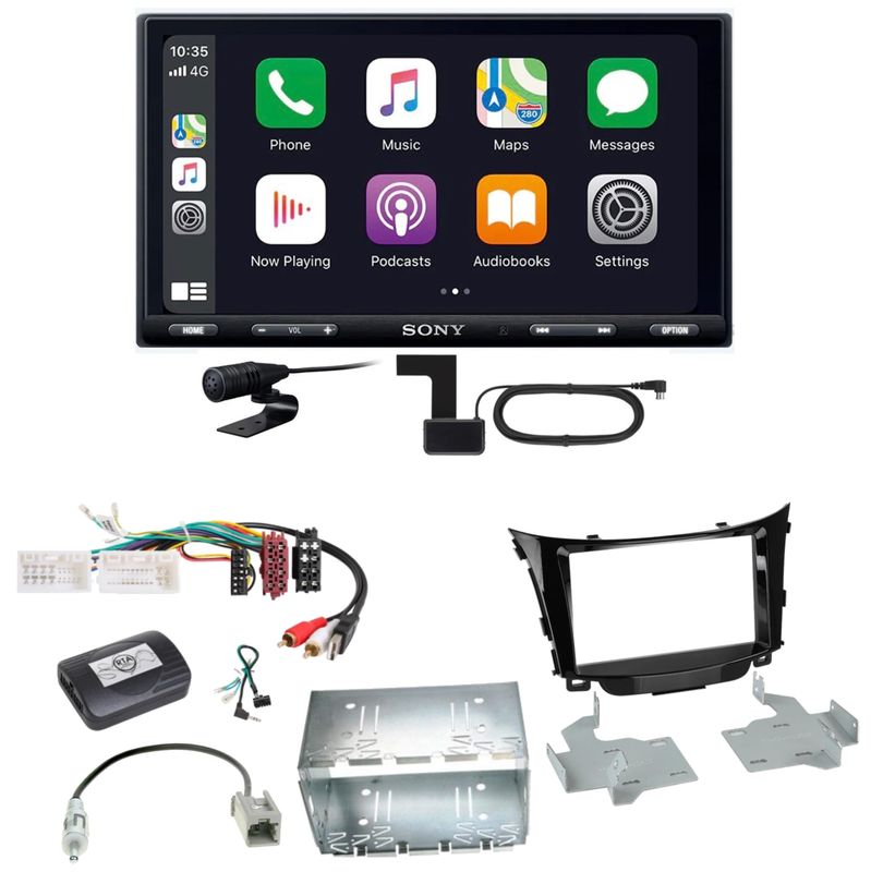 Sony XAV-AX5550D Moniceiver CarPlay DAB+ USB Einbauset für Hyundai i30 GD GDH