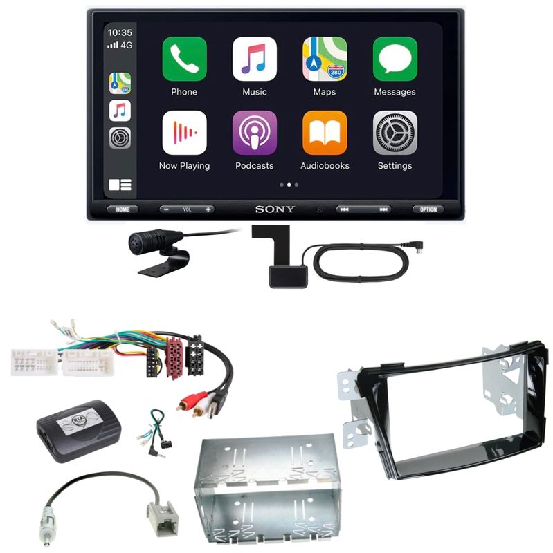 Sony XAV-AX5550D Moniceiver CarPlay Digitalradio Einbauset für Hyundai i40 VF