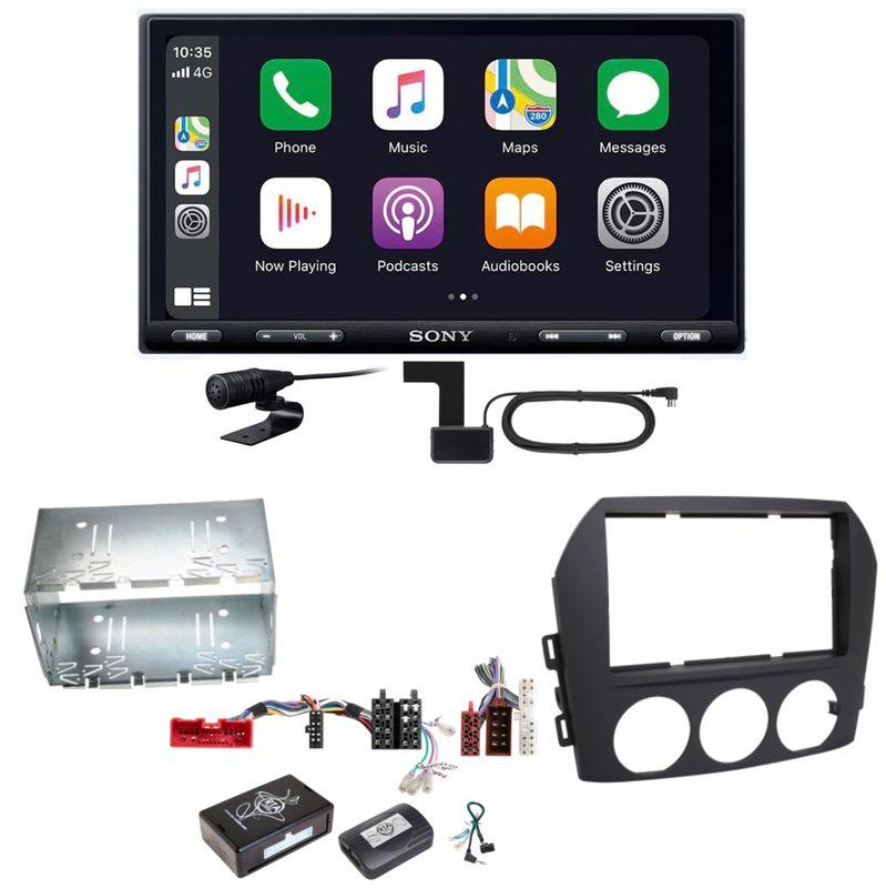 Sony XAV-AX5550D Moniceiver CarPlay Digitalradio USB Einbauset für Mazda MX-5 NC