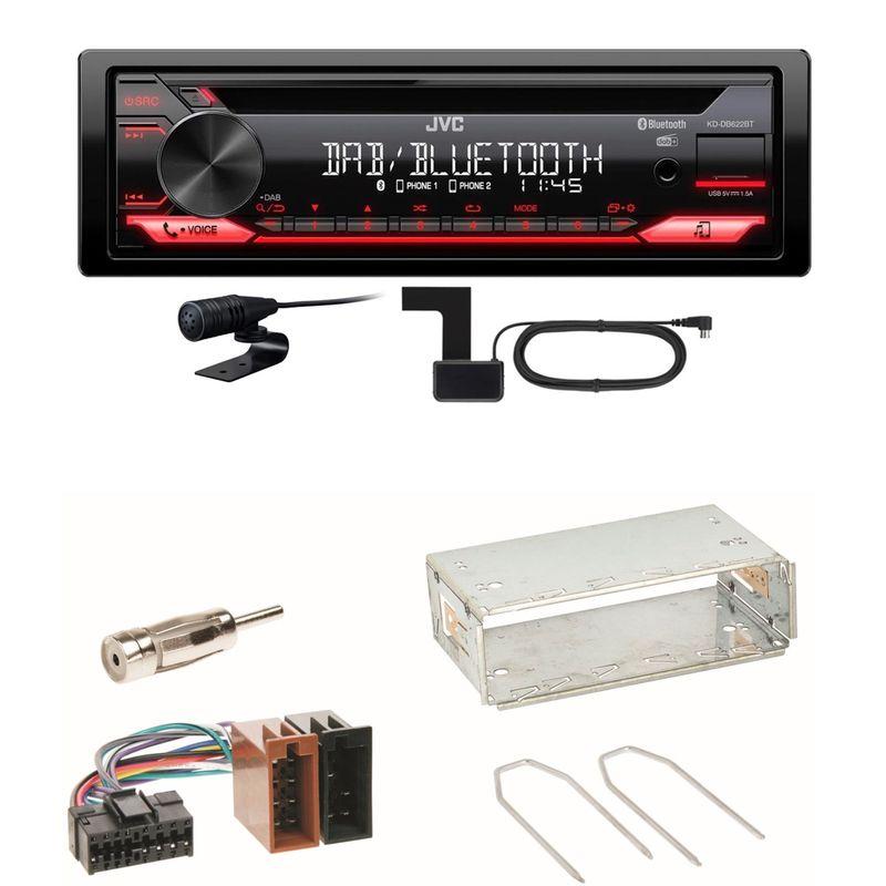 JVC KD-DB622BT Bluetooth DAB+ CD USB FLAC Einbauset für Renault Clio 1 2 Twingo