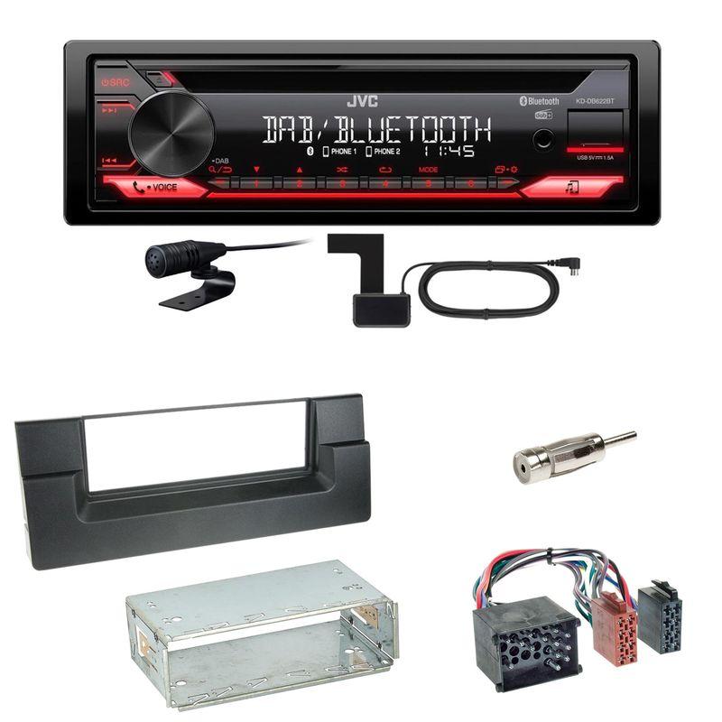 JVC KD-DB622BT Bluetooth DAB+ CD Autoradio Einbauset für BMW 5er E39 bis 09/2000