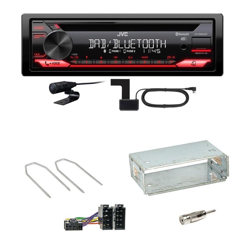 JVC KD-DB622BT Bluetooth DAB+ FLAC Einbauset für Renault Megane 2 Clio 3 Modus