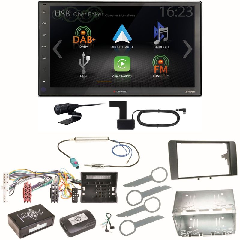 Zenec Z-N966 Moniceiver CarPlay Android Auto DAB+ Einbauset für Audi A3 8P 8PA