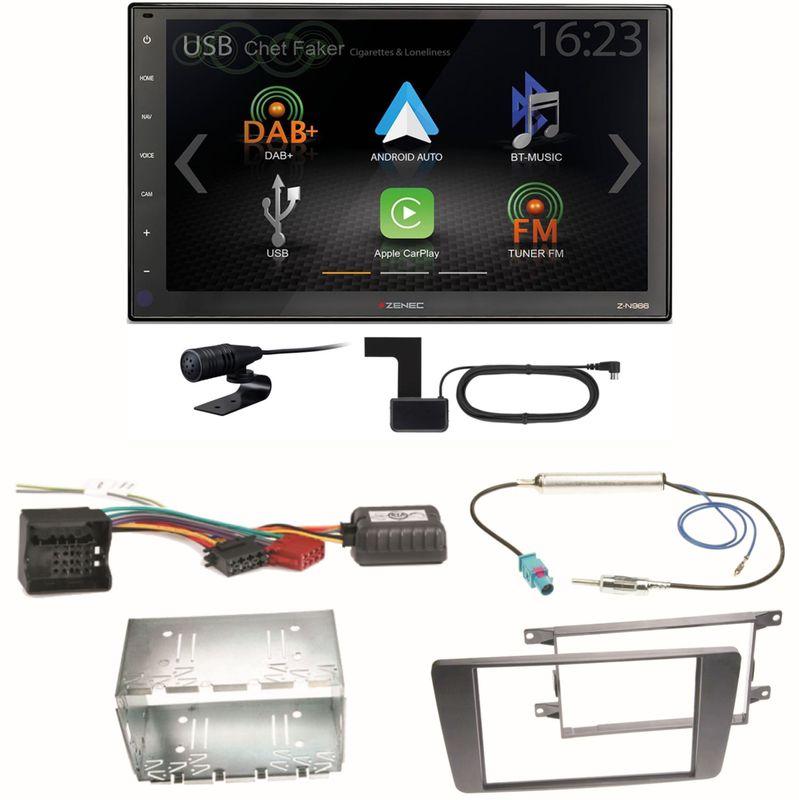 Zenec Z-N966 Moniceiver CarPlay DAB+ USB Einbauset für Skoda Octavia 2 Yeti 5L