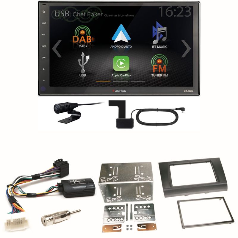 Zenec Z-N966 Moniceiver CarPlay DAB+ USB Einbauset für Suzuki Swift Sport EZ MZ