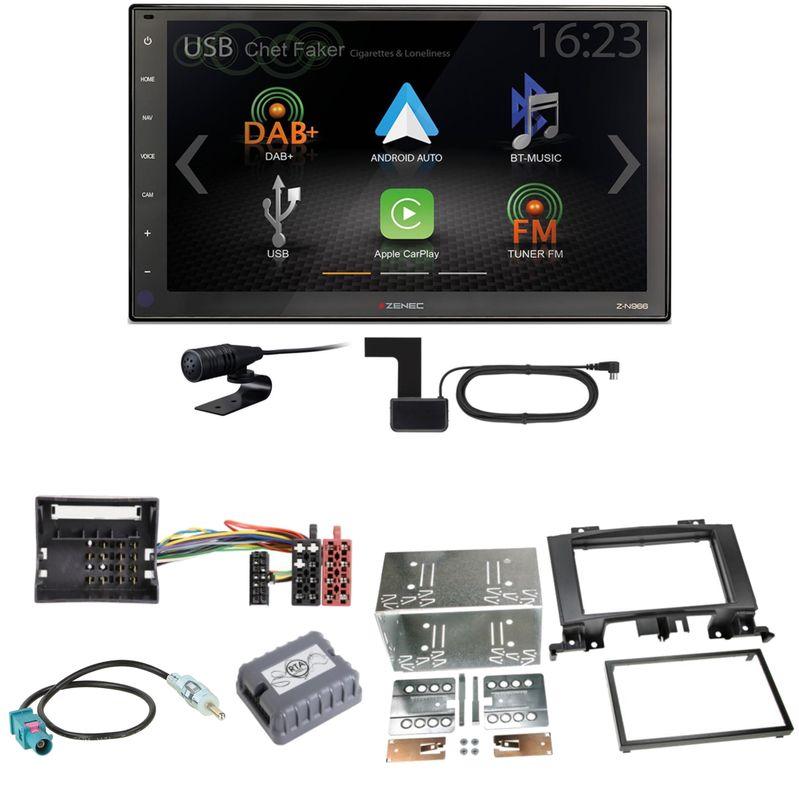 Zenec Z-N966 Moniceiver CarPlay USB Einbauset für Mercedes Sprinter W906 Crafter