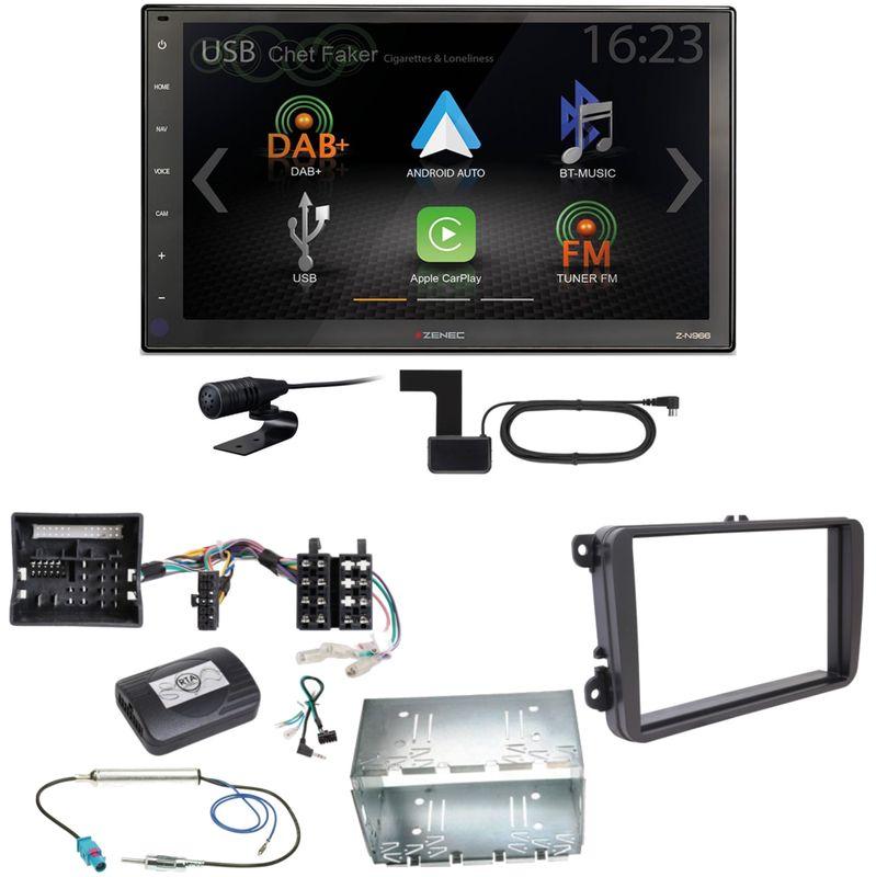 Zenec Z-N966 Moniceiver Android Auto DAB+ USB Einbauset für T6 Sharan 2 Beetle