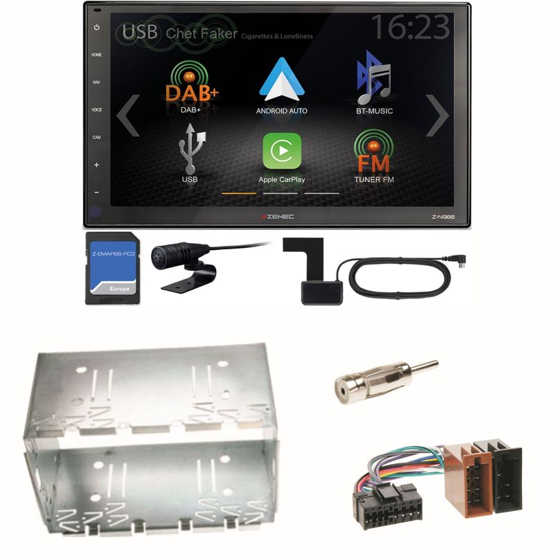 Zenec Z-N966 Naviceiver USB Einbauset für Mercedes Vito Viano W639 W447 Sprinter