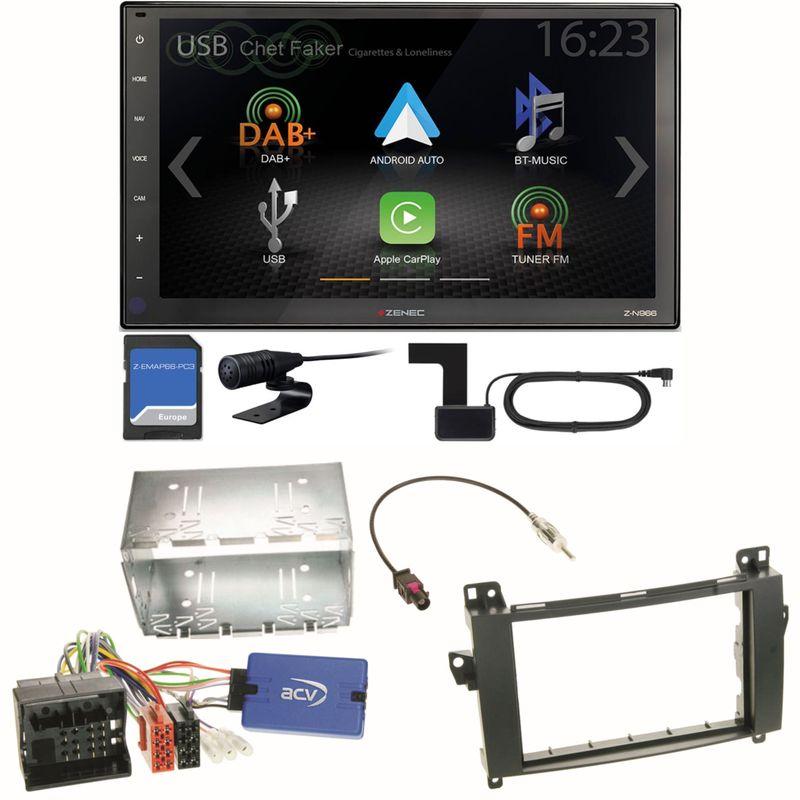 Zenec Z-N966 Android Auto CarPlay Digitalradio Einbauset für Mercedes Vito W447
