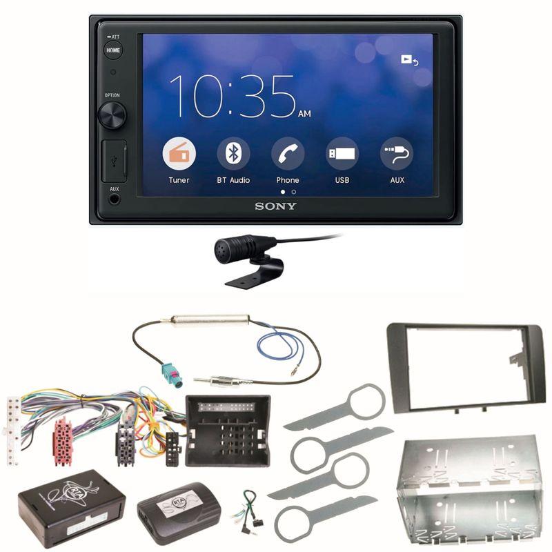 Sony XAV-V10BT Moniceiver Bluetooth Autoradio USB Einbauset für Audi A3 8P 8PA