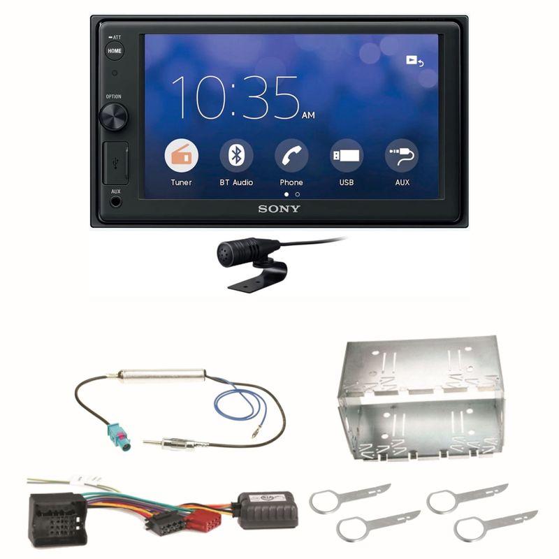 Sony XAV-V10BT Moniceiver Bluetooth Autoradio USB MP3 Einbauset für Fox Polo 9N3