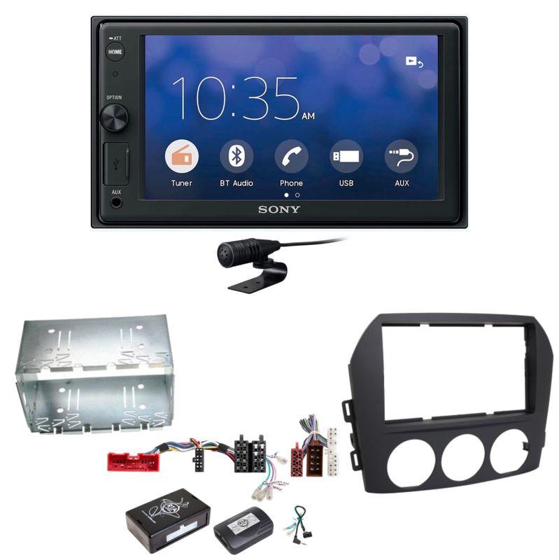 Sony XAV-V10BT Moniceiver Bluetooth Autoradio USB Einbauset für Mazda MX-5 NC