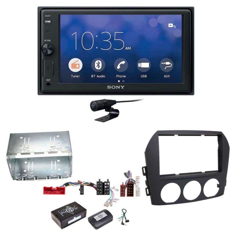 Sony XAV-V10BT Moniceiver Bluetooth Autoradio USB Einbauset für Mazda MX-5 NC FL