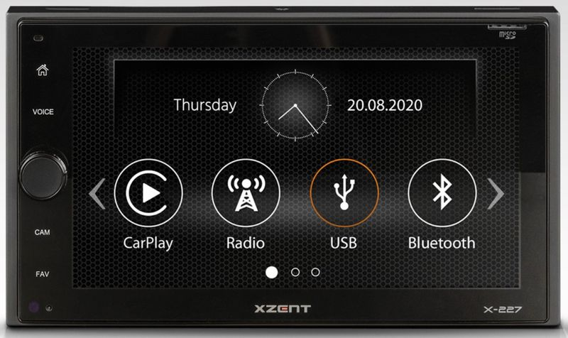 XZENT X-227 2-DIN Moniceiver Carplay Bluetooth DAB+ Digitalradio