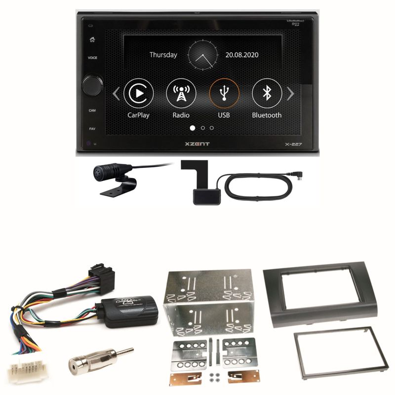 Xzent X-227 Carplay Digitalradio USB MP3 Einbauset für Suzuki Swift Sport EZ MZ
