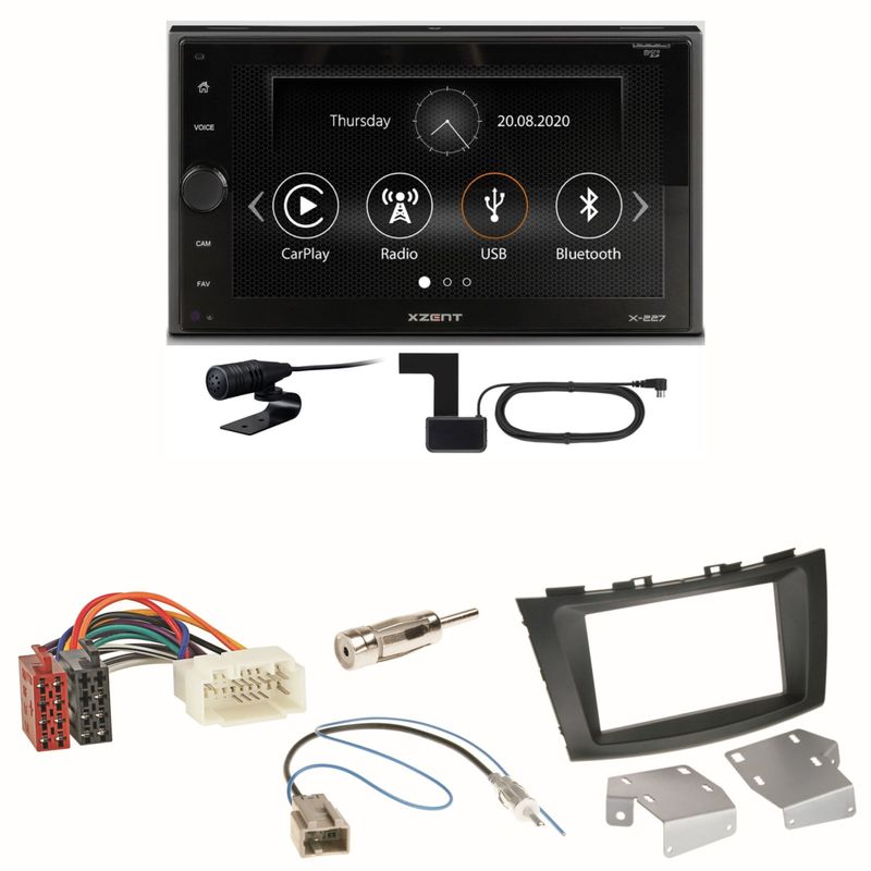 Xzent X-227 Carplay Digitalradio USB MP3 Einbauset für Suzuki Swift Sport FZ NZ