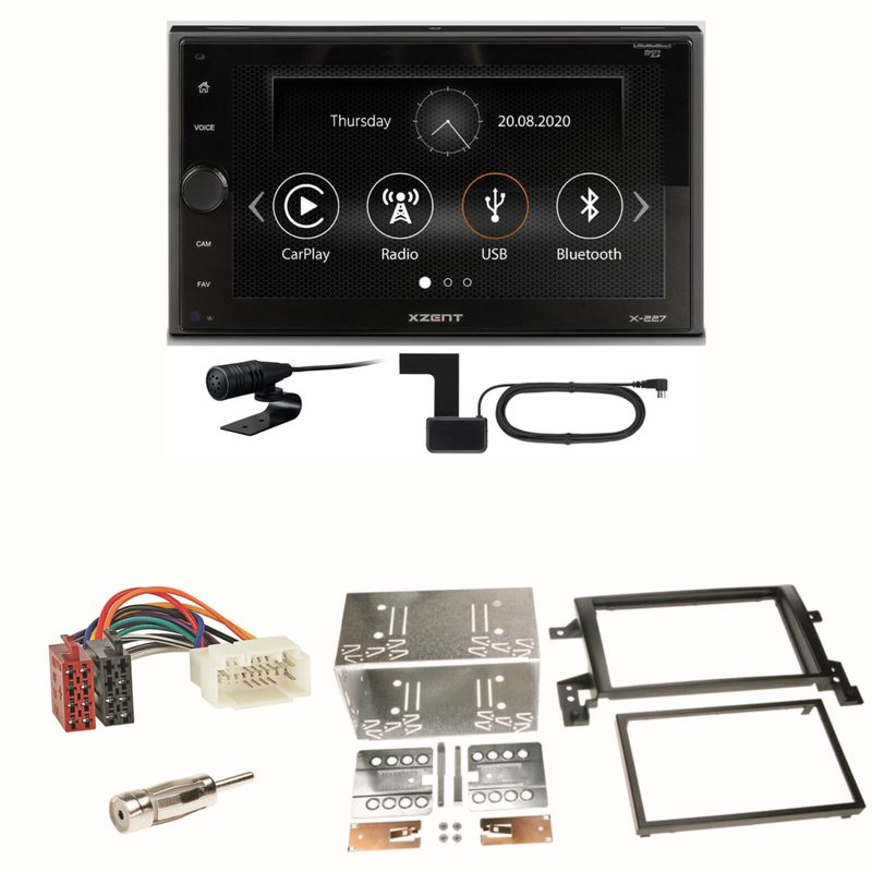 Xzent X-227 Carplay Digitalradio USB MP3 Einbauset für Suzuki Grand Vitara JT