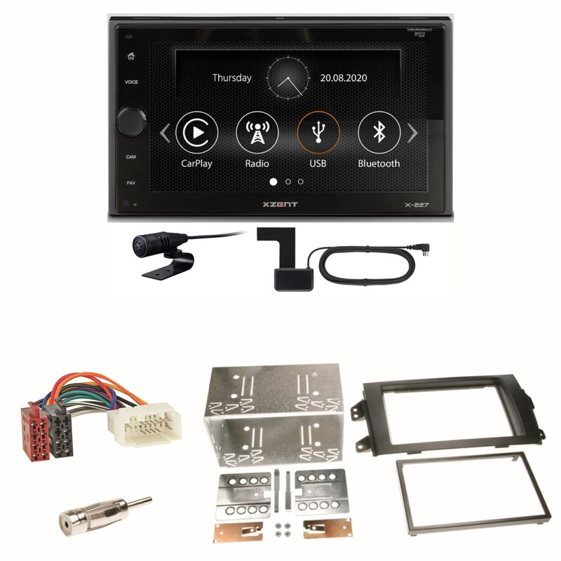 Xzent X-227 Carplay Digitalradio USB MP3 Einbauset für Suzuki SX 4 Fiat Sedici