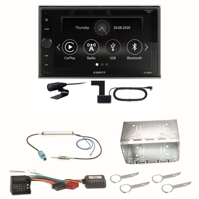 Xzent X-227 Carplay Digitalradio USB MP3 DAB+ Einbauset für Fox Polo 9N3