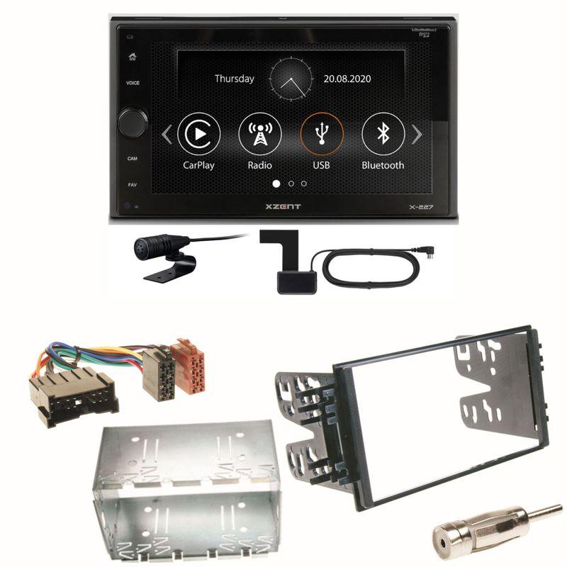 Xzent X-227 Carplay Bluetooth DAB+ Einbauset für Kia Sorento JC Rio DC Carnival