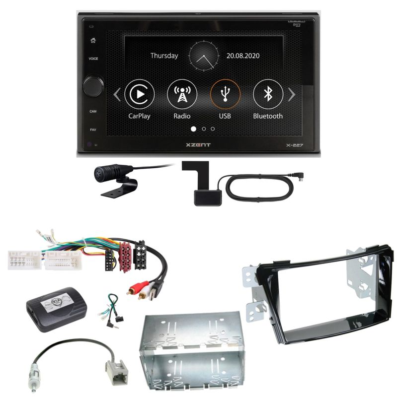 Xzent X-227 Carplay Digitalradio USB MP3 DAB+ Einbauset für Hyundai i40 VF