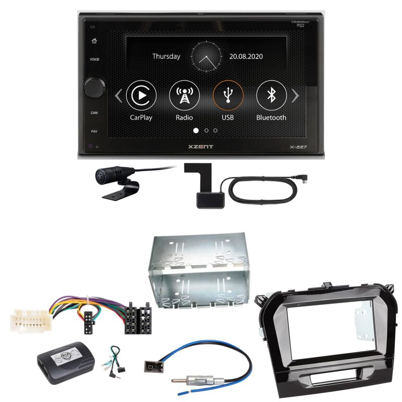 Xzent X-227 Carplay Digitalradio USB MP3 DAB+ Einbauset für Suzuki Vitara LY