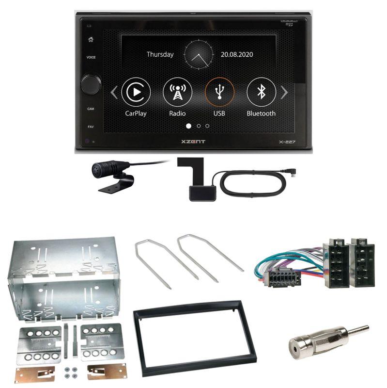 Xzent X-227 Carplay Digitalradio USB MP3 Einbauset für Peugeot 307 Citroen C2 C3