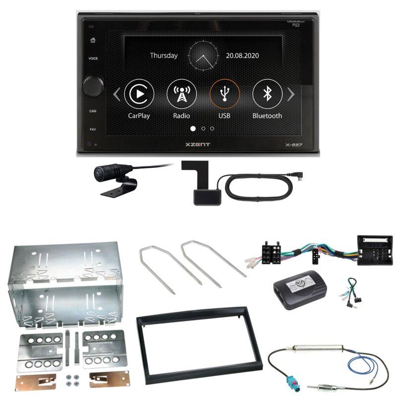 Xzent X-227 Carplay Bluetooth DAB+ Einbauset für Citroen C2 C3 Berlingo Jumpy