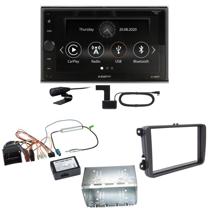 Xzent X-227 Carplay Digitalradio USB MP3 Einbauset für Tiguan Amarok Caddy Jetta