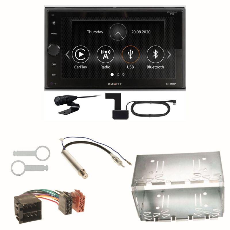Xzent X-227 Carplay Digitalradio USB MP3 Einbauset für Polo 6N2 9N Bora Ibiza 6L