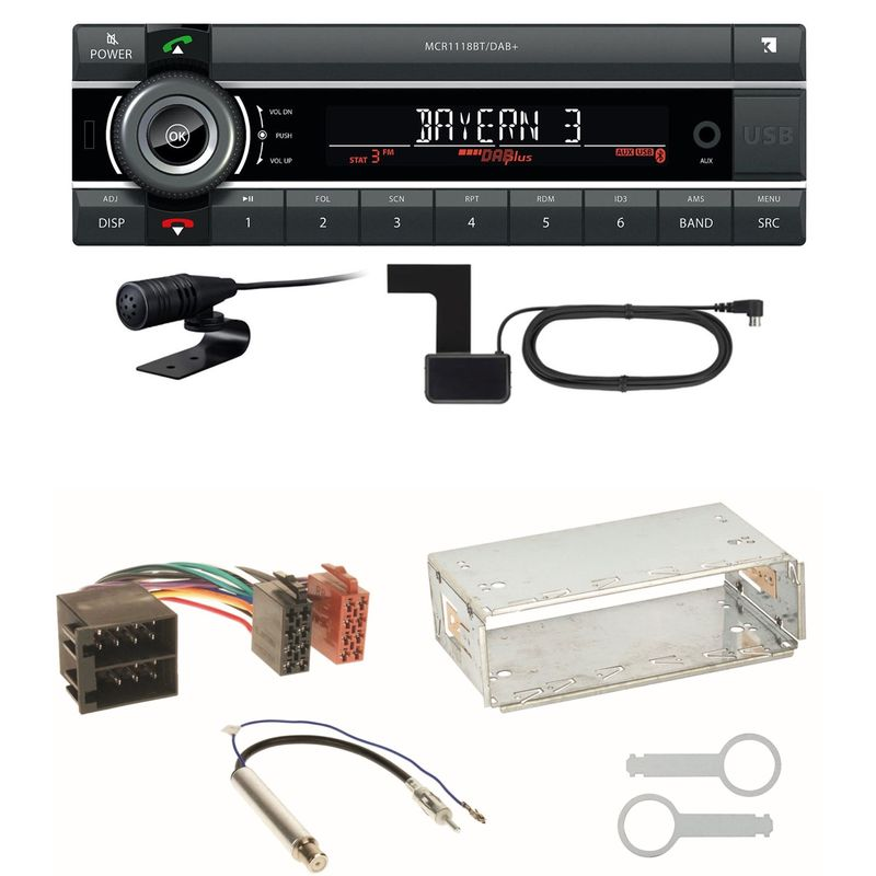 Kienzle MCR 1118 DAB Bluetooth DAB+ USB Einbauset für Skoda Octavia 1U Superb 1
