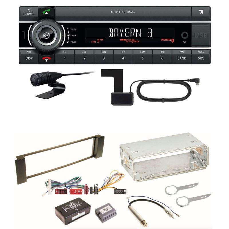 Kienzle MCR 1118 DAB Bluetooth DAB+ USB MP3 AUX Einbauset für Audi A3 8L A6 4B
