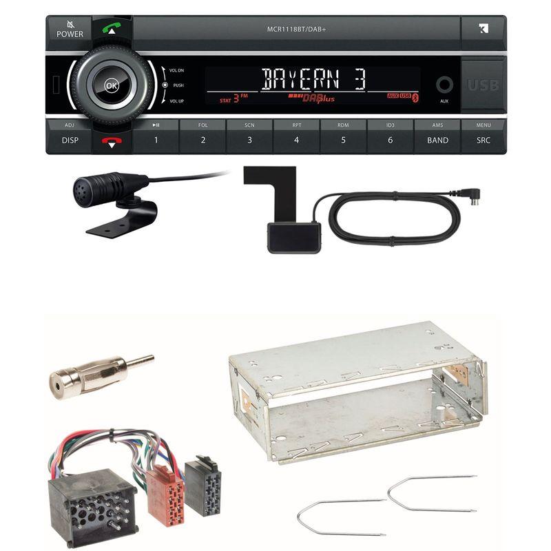 Kienzle MCR 1118 DAB Bluetooth DAB+ USB Autoradio Einbauset für BMW 3er E36 Z3