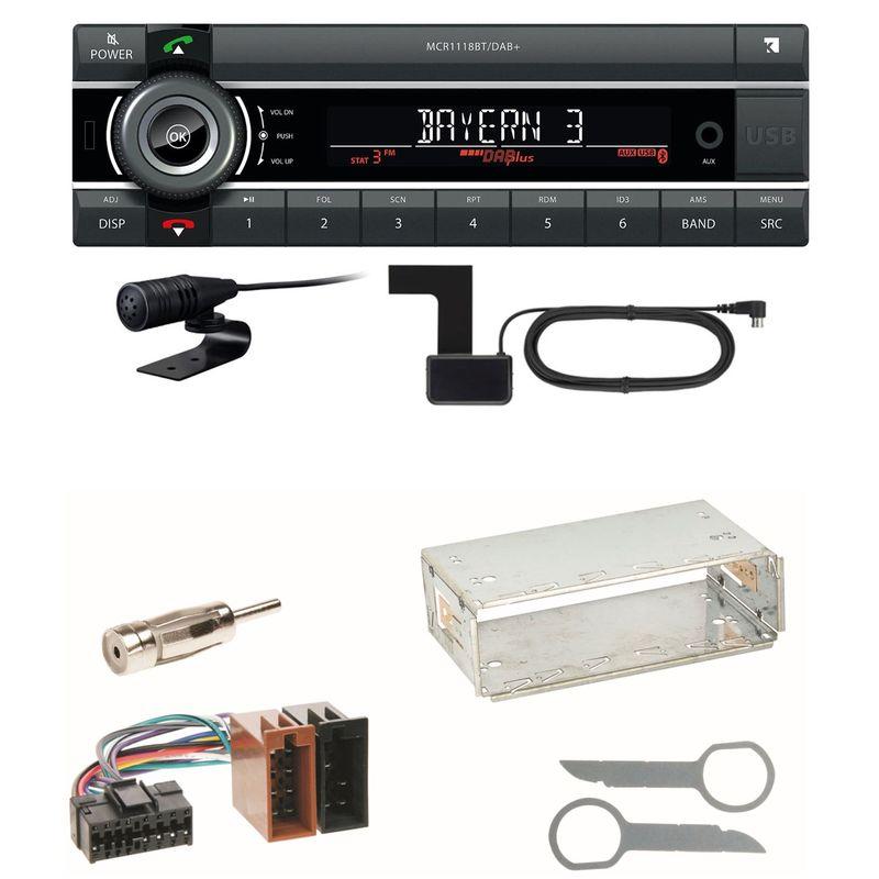 Kienzle MCR 1118 DAB Bluetooth DAB+ USB MP3 Einbauset für Mercedes A C M Klasse