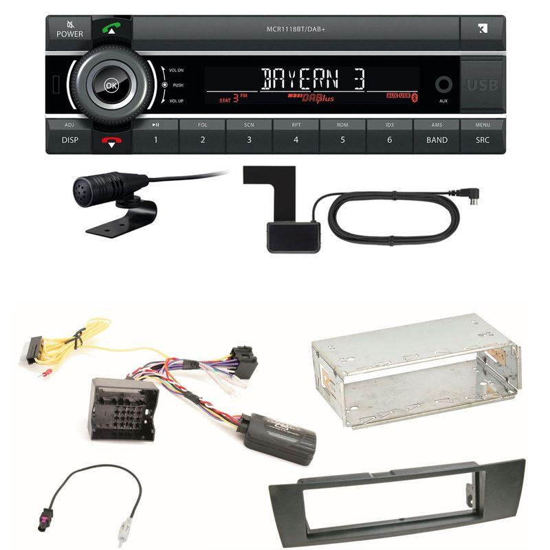 Kienzle MCR 1118 DAB Bluetooth DAB+ USB MP3 Einbauset für BMW E90 E91 E92 E93